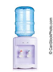 enfriador, dosificador de agua, blanco, aislado