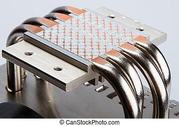 enfriador, unidad central de procesamiento, aluminio