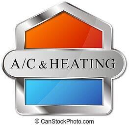 enfriamiento, condicionamiento, aire, diseño, calefacción