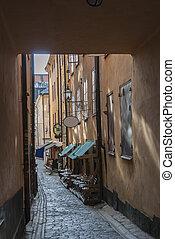 eng, eigen, altes , straße, stockholm
