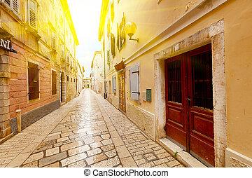 eng, stadtstraße, kroatien, rovinj