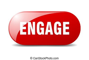 engage button. sticker. banner. rounded glass sign - engage ...