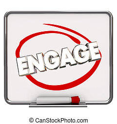 Engage Circled Dry Erase Board Marker Share Communicate...