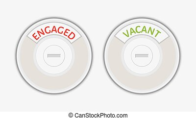 engaged and vacant signs