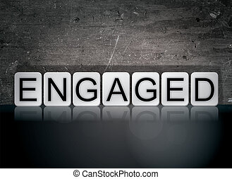 Engaged Concept Tiled Word