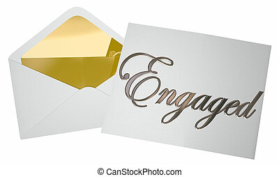 Engaged Notice Invitation Opening Engagement Party 3d...
