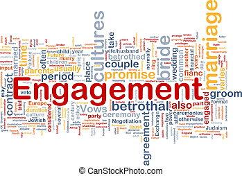 Engagement background concept
