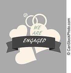 engagement - vector wedding card