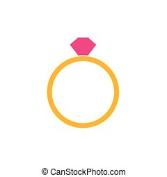 engagement gold ring icon