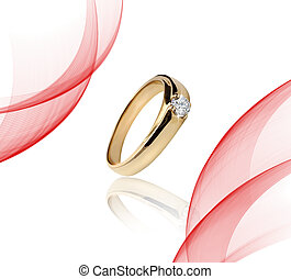 Engagement Gold with stone ring