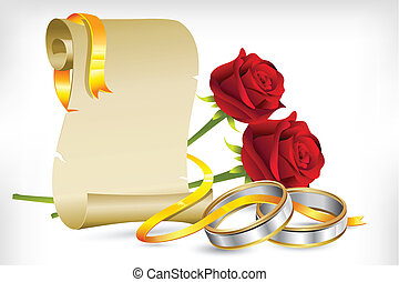Engagement Invitation - illustration of pair of engagement ...
