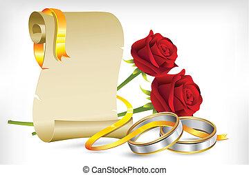 Engagement Invitation - illustration of pair of engagement ...