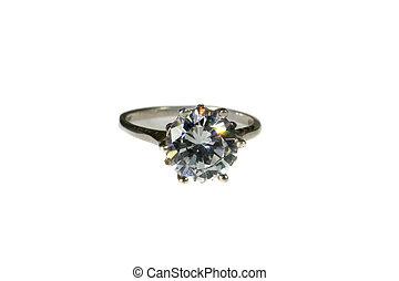 engagement, or, diamant, platine, mariage, w, anneau, blanc