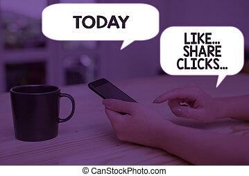 engagement, part, déclics, signe, photo, projection, augmentation, contenu, social, conceptuel, commercialisation, media., texte, aimer