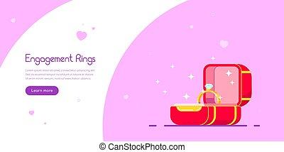 Engagement ring banner design.