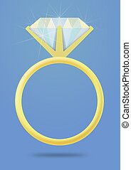 Engagement Ring - Illustration of an isolated Engagement...