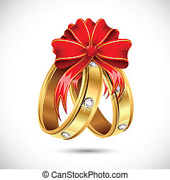 Engagement Ring - illustration of pair of engagement ring ...