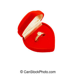 engagement ring in a gift box