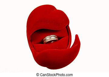 Engagement ring in red box
