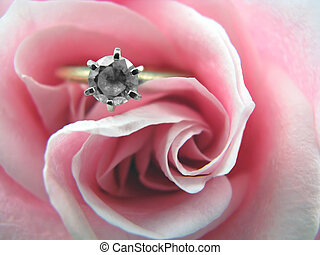 engagement ring in rose