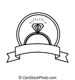 engagement ring isolated icon vector illustration design