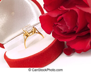 Engagement Ring with Rose