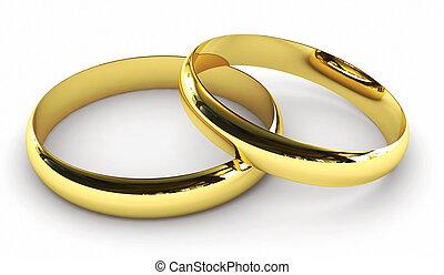 Engagement rings - 3D render of engagement rings