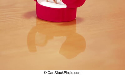 Engagement rings - Two engagement rings in a box prepared...