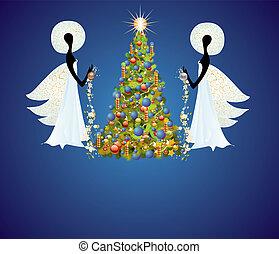 engel, baum, weihnachten
