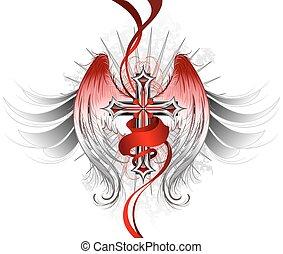engel, gotisch, kruis