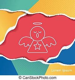 engel, lijn, pictogram