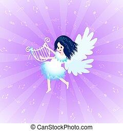 engel, lyre