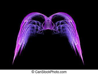 engel vleugels, fractal, paarse , roze