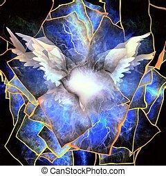 engelachtig, vleugels, abstractie