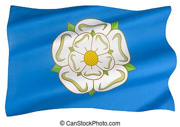 engeland, vlag, yorkshire, -