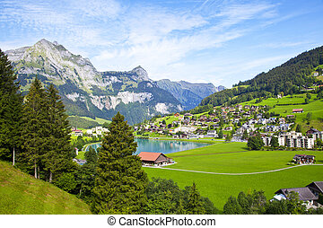 Engelberg village in Switzerland