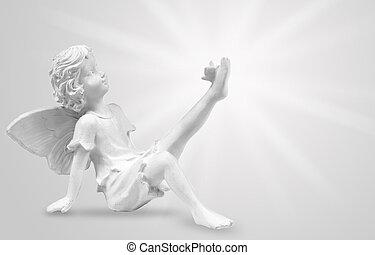 engelchen, mit, papillon