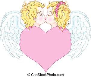 engelen, verliefd