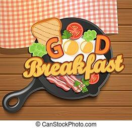 engelse , vector., ontbijt