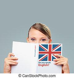 engelsk, kvindelig student