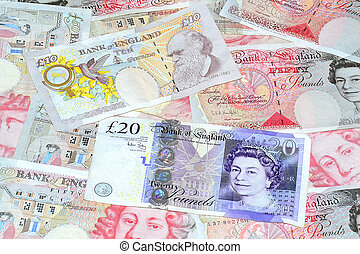 engelsk, penge