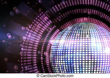engendré, disco, digitalement, balle