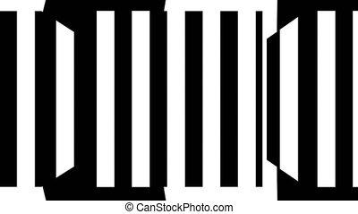 engendré, render, informatique, blanc, noir, stripes., résumé, fond, 3d