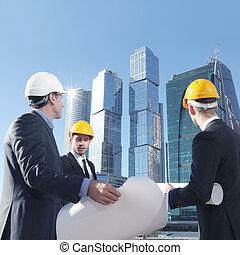 engenharia, conceito, arquitetura