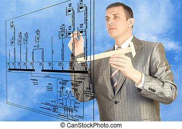 engenharia, desenhando