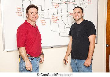 engenharia, estudante, e, professor