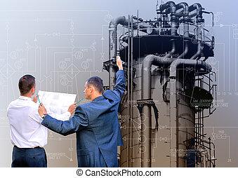 engenharia, industrial, tecnologia