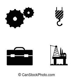 engenharia, jogo, ícone