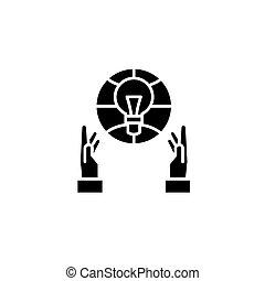 engenharia, pretas, ícone, concept., engenharia, apartamento, vetorial, símbolo, sinal, illustration.