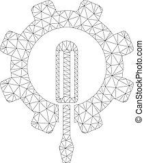engenharia, vetorial, malha, ícone